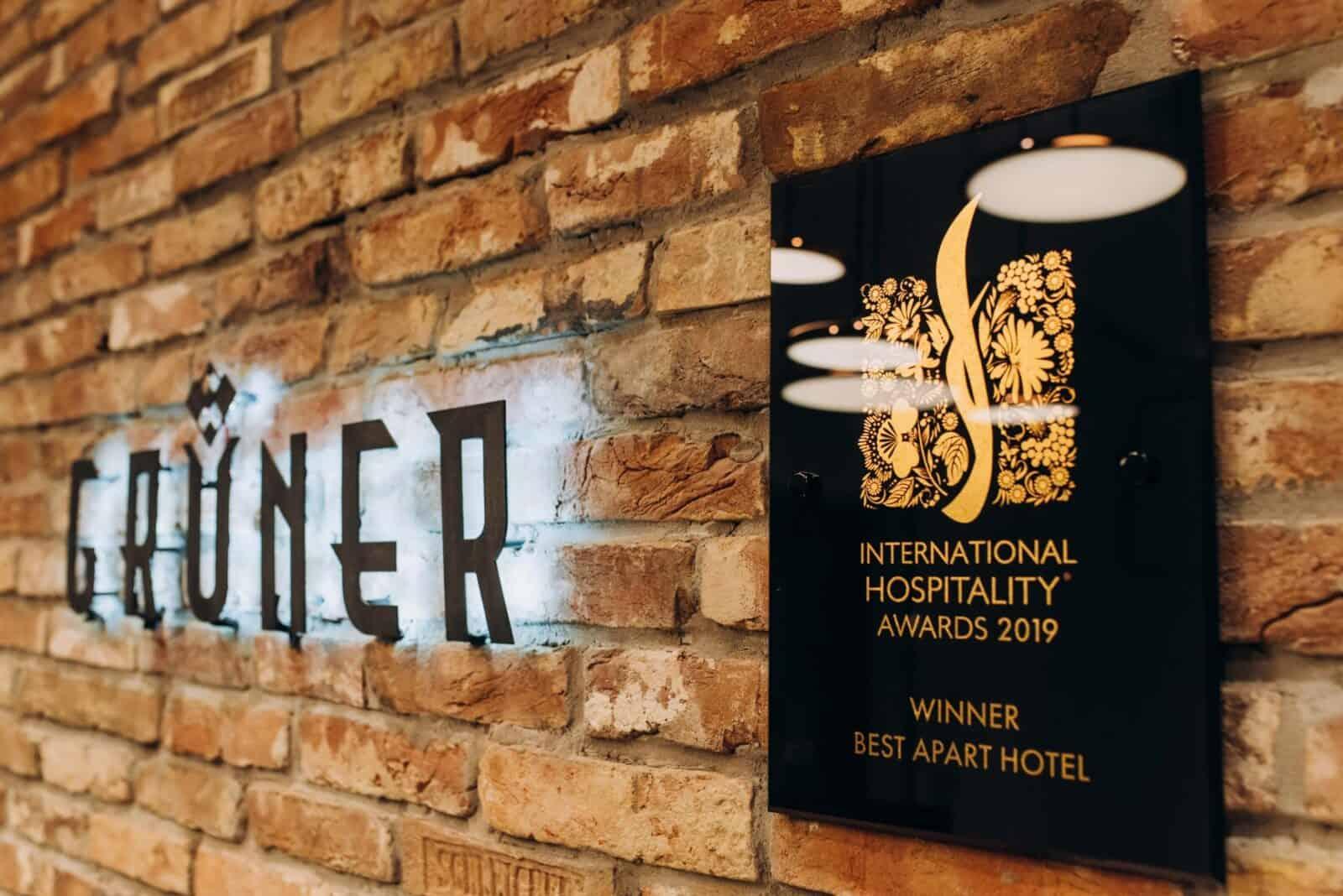 Gruner Hotel Award